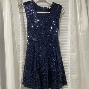 Forever 21 Small Blue Sequin Formal Dress!!